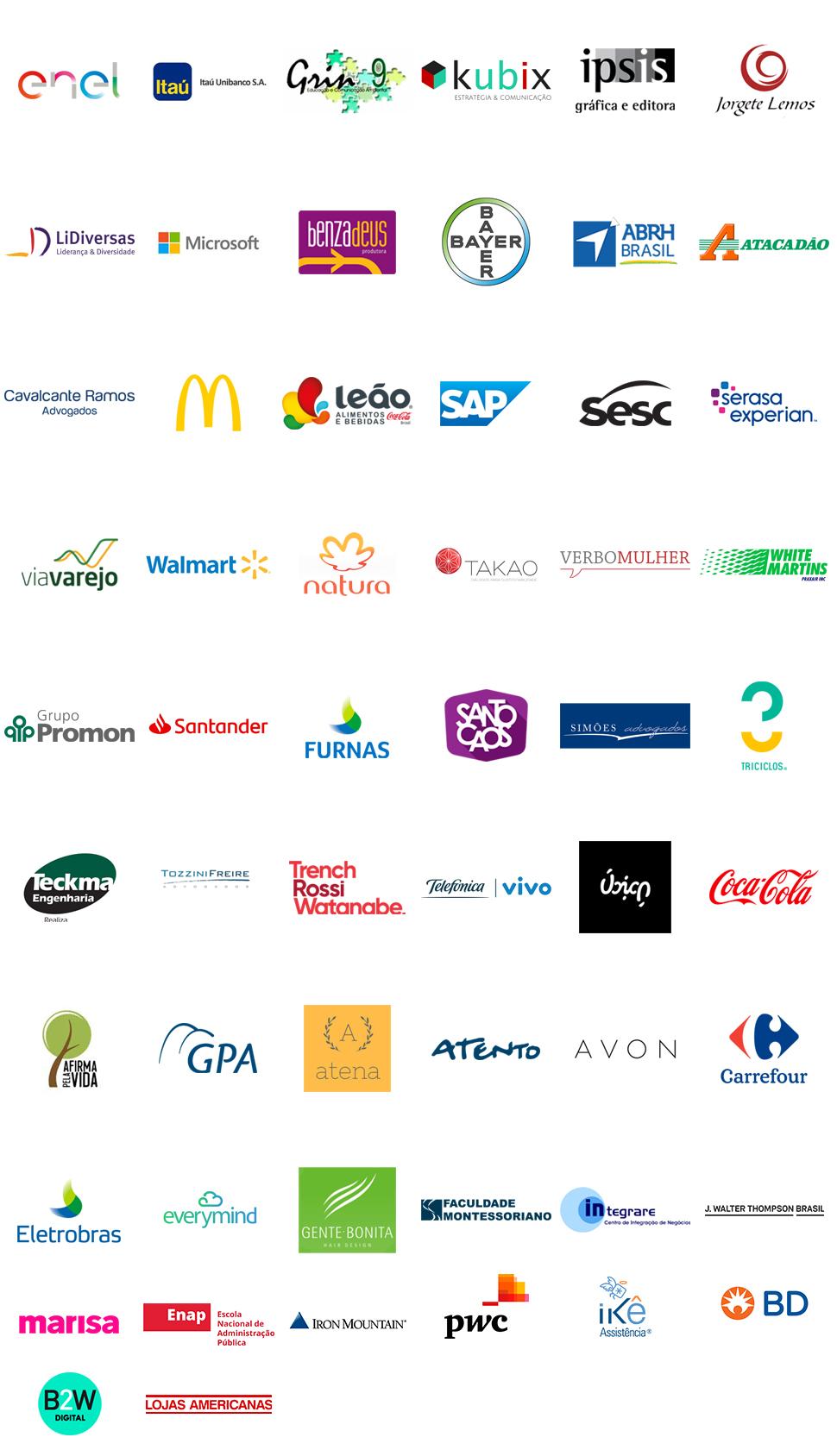 Mosaico de Logos Participantes